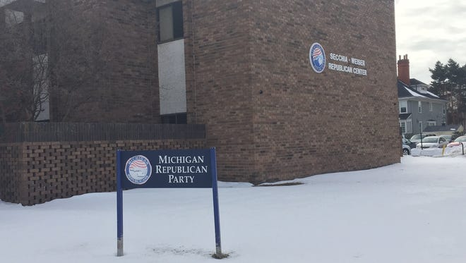 The revelation that a state party committee member, William Rauwerdink, 64, of West Bloomfield, has a criminal past that includes prison time for one of the largest financial frauds in Michigan history is the latest controversy to shake the Michigan Republican Party as it heads into its state convention next weekend in Lansing. Shown here is the headquarters of the Michigan Republican Party.