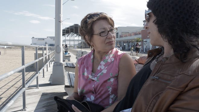 "Shot and set in Asbury Park, ""Let Me Down Hard"" stars veteran Jersey Shore rocker Keith Roth, right, in his film debut as a fading rocker star, and Margo Crupi as his forgiving mom.  The film will screen 1:45 p.m. April 9 at Parlor Gallery during the Asbury Park Music in Film Festival."