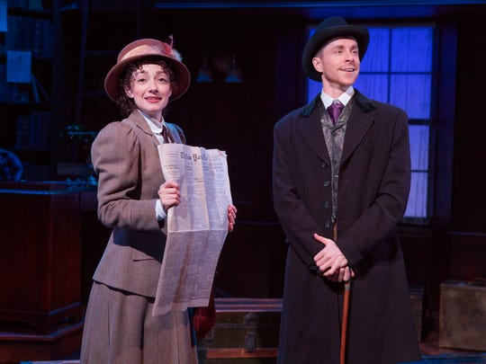 Adam Halpin and Megan McGinnis star in the off-Broadway