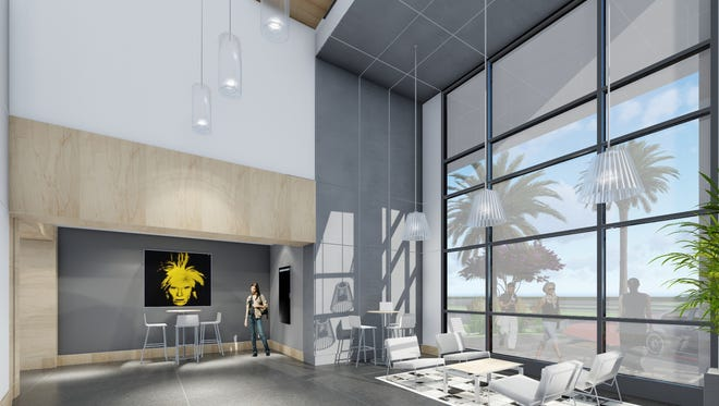 A view of what the inside of the last Class A office project at the Kraft Office Center will look like when completed.