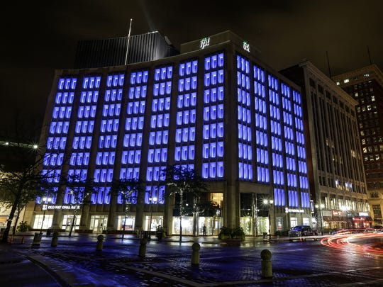 The Indianapolis Power & Light building in Downtown