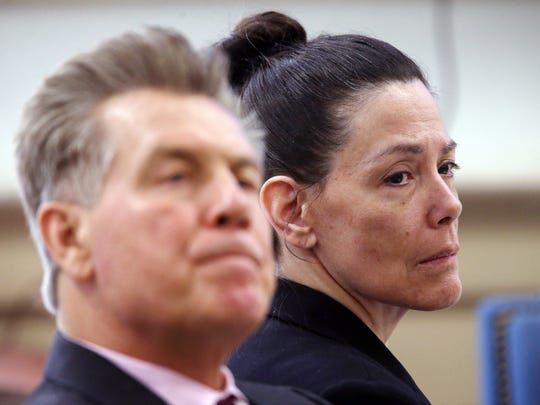 Defense attorney Edward Bilinkas and Virginia Vertetis