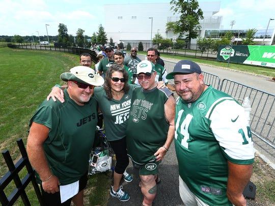 First fans in line, Alex Klein, l, of Long Island,
