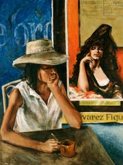 """Jim Jones painted """"The Tourist"""" in 1964 during his Mexico years."""