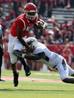 Rutgers Scarlet Knights new head football coach Chris Ash coaches his first home game at High Point Solutions Stadium in Piscataway against the Bisons of Howard University on Saturday September 10, 2016.