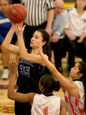 Olympic senior Katie Campana was named to the Associated Press all-state girls basketball team on Monday. She received honorable mention on the Class 2A team.