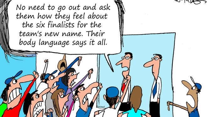 Editorial cartoon on the B-Mets name finalists