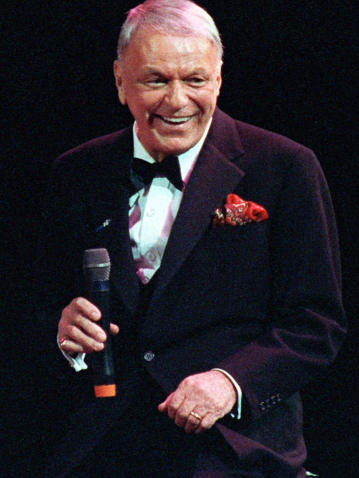 This is a Dec. 13, 1990 file photo of Frank Sinatra