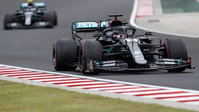 A win on Sunday in Hungary for Lewis Hamilton can tie Michael Schumacher's record for victories at a single track.