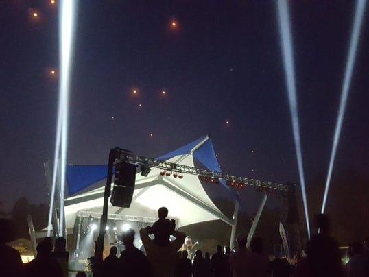 Beach Pavilion Night With Sky Lanterns 09.05.15