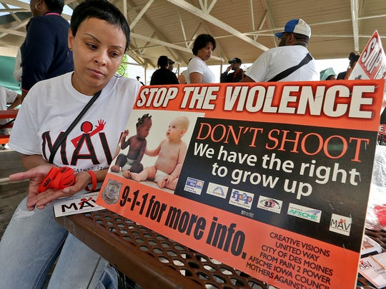 Calvetta Williams of Des Moines, founder of Mothers Against Violence, shown in 2014 Register file photo.