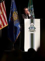 Green Bay Mayor Jim Schmitt presents his State of the