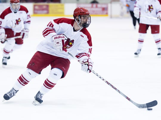 Pat Egan has panned out to be a prized recruit for the Plattsburgh State men's hockey team.