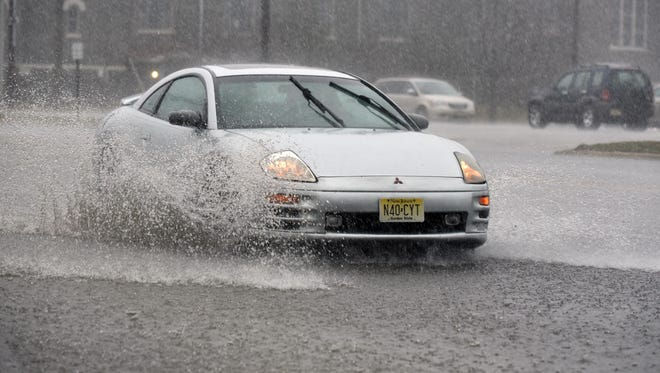 Be careful on the roads: New Jersey is in for storms that could bring 2 or more inches of rain in an hour.