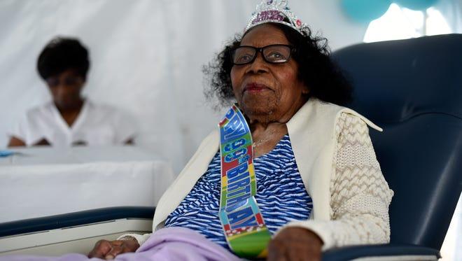 Vera Scott celebrates her 99th birthday in her Passaic home.