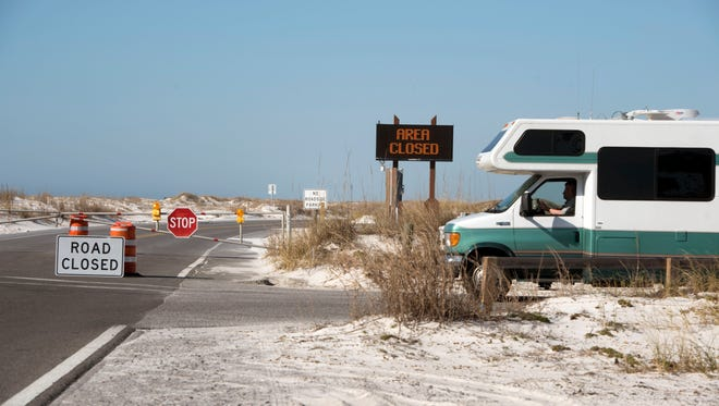 The government shutdown caused Fort Pickens to close on Sunday, Jan. 21, 2018.