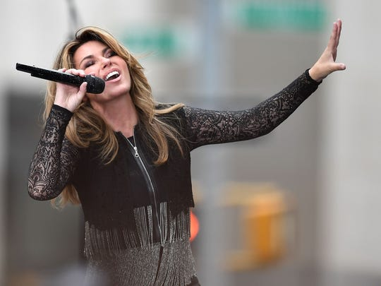 Shania Twain performs on NBC's 'Today' in June.l Her