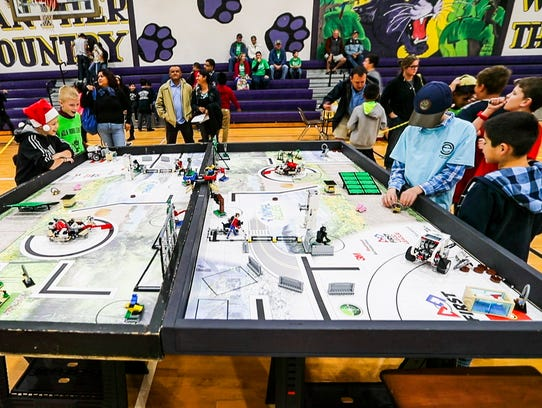 More than 200 kids, ages 9-14, were on hand to compete
