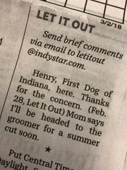 Henry responded quickly (well, quickly in newspaper time).