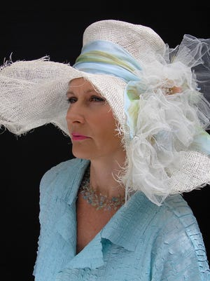 Designer Gwendolyn Gleason creates custom derby hats at her Naples studio. She's attending this year's Kentucky Derby to dress women with the trendiest hats.
