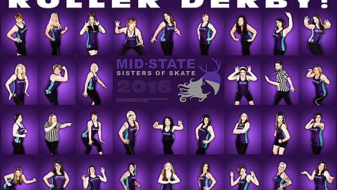 The 2016 poster for the Mid-State Sisters of Skate.