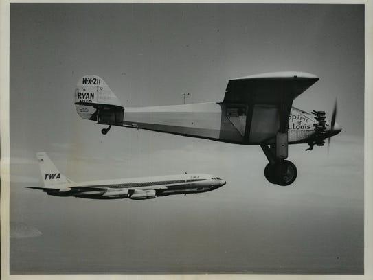 On the 35th anniversary Charles Lindbergh's transatlantic