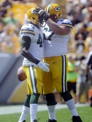 Green Bay Packers running back James Starks (44) is