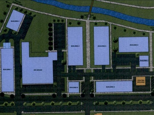 A conceptual layout plan gives a bird's-eye view of