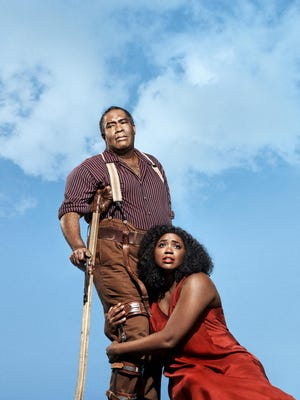 """Bass-baritone Eric Owens and soprano Angel Blue in the title roles of """"Porgy & Bess"""" which will be broadcast live from the Met, at both the Bardavon and UPAC 1 p.m. Feb. 8."""
