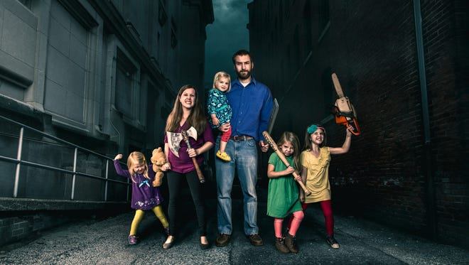 """Central Indiana comedian James Breakwell writes Twitter jokes about raising his four daughters and released his first book on Oct. 10, 2017, """"Only Dead on the Inside: A Parent's Guide to Surviving the Zombie Apocalypse."""""""