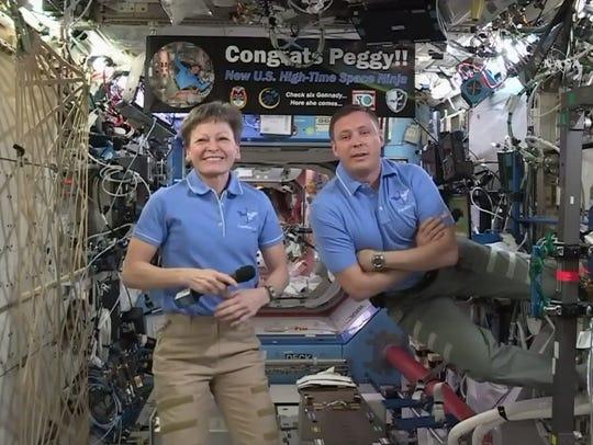 Aboard the International Space Station on Monday, NASA