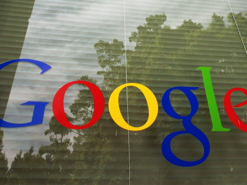 A Google logo at the company's headquarters in Mountain View, Calif., in 2012.