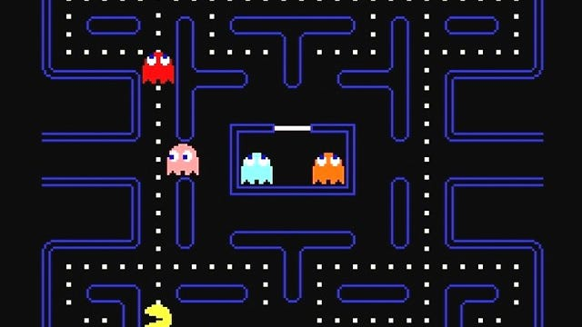 Pac-Man image courtesy Namco Bandai Games via the Smithsonian.