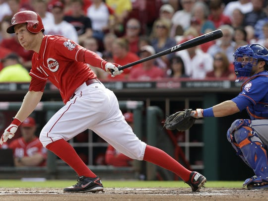 Cincinnati Reds' third baseman Todd Frazier will start for the National League at in the Major League Baseball All-Star Game on July 14