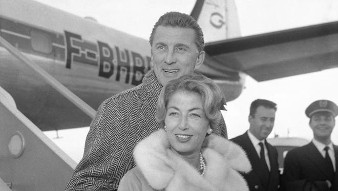 Kirk Douglas and wife Anne, pictured in 1960, have been husband and wife for 63 years.