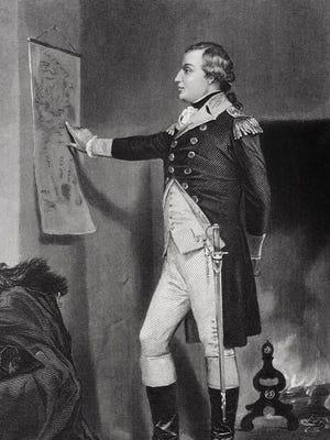 Full length engraving of American Revolutionary War General Richard Montgomery