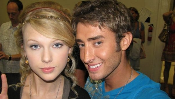 John Dye and Taylor Swift in 2008.