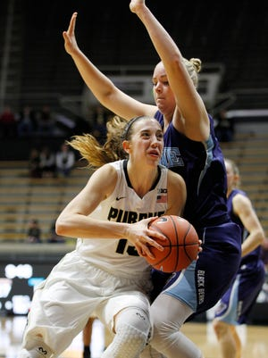 A healthy Bridget Perry has been a go-to player for the Boilermakers this season.