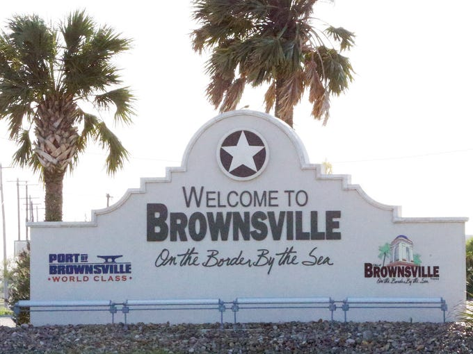 The entrance to Brownsville from the highway leading