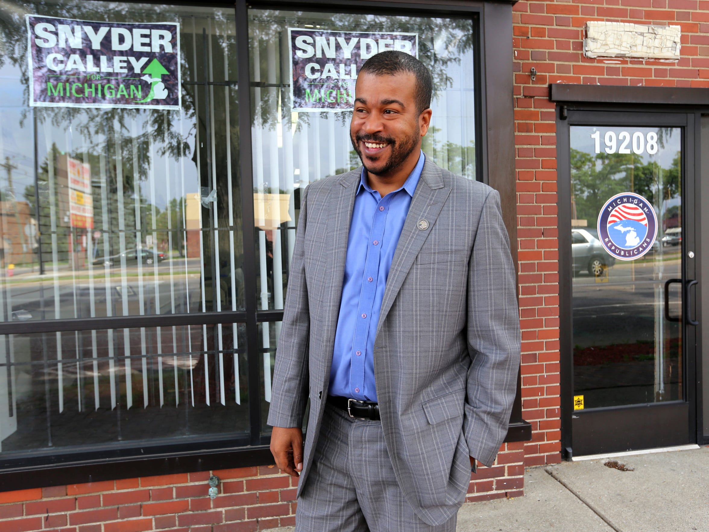 """""""Maybe sometimes he's made it difficult, but people are willing to listen to what Trump has to say,"""" says Wayne Bradley, African-American engagement director for the state Republican Party in Michigan."""