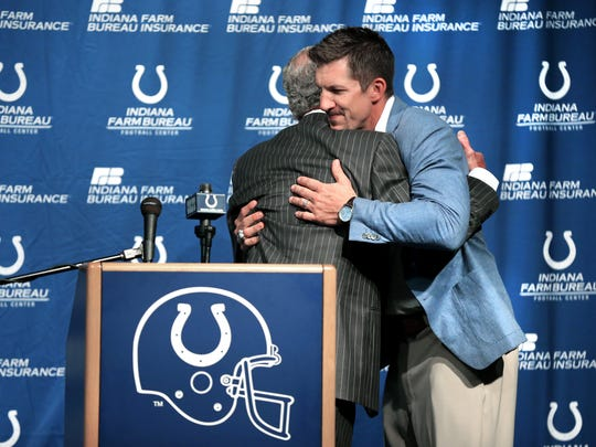Dallas Clark retired with the Colts after the 2013 season. He spent his first nine years in Indy.
