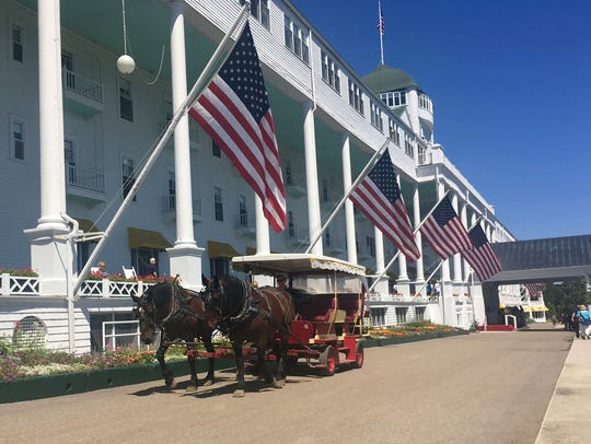 The Grand Hotel on Mackinac Island is photographed on July 19, 2016.