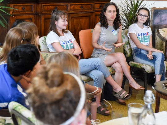 Martin County teens expressed their interest in political issues Saturday, June 23, 2018, during a meeting with congressional candidate Lauren Baer at Ground Floor Farm in Stuart.