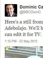 BBC tweet London attack
