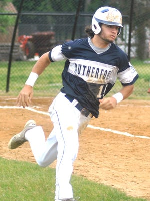 Rutherford center fielder Evan Smith went 3-for-3 in the Bulldogs' victory over Parsippany.