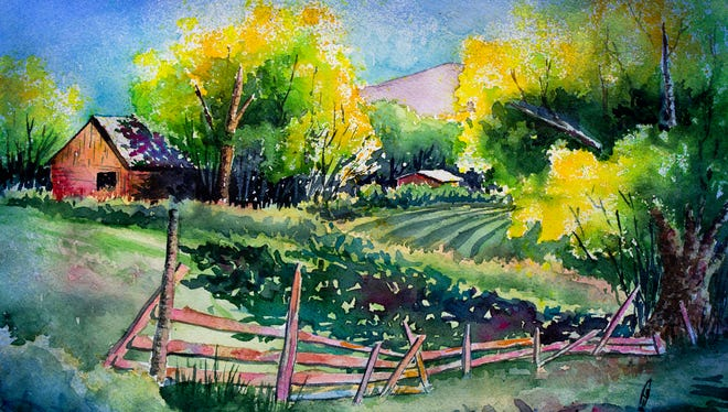 """Michael Bulloch's """"North of Cuba, NM"""" is included in his """"I Dream in Color"""" show opening at San Juan College."""