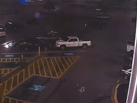 Security footage of this white pickup helped New Castle