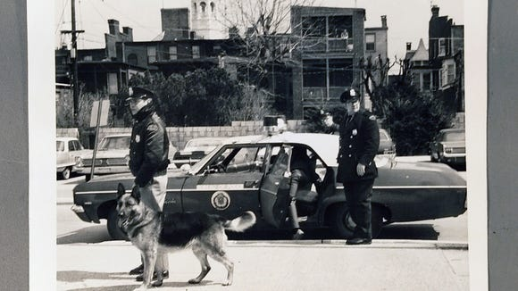 Rioting stopped after 1969, but the K-9 Corps continued, as seen in this 1970 picture. The issue of police dogs was a big topic in the York Charrette in the spring of 1970. The K-9 Corps was discontinued in 1973.
