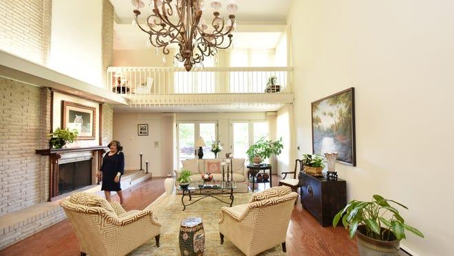 Jackson State University President Carolyn Meyers has ample spacious living room.