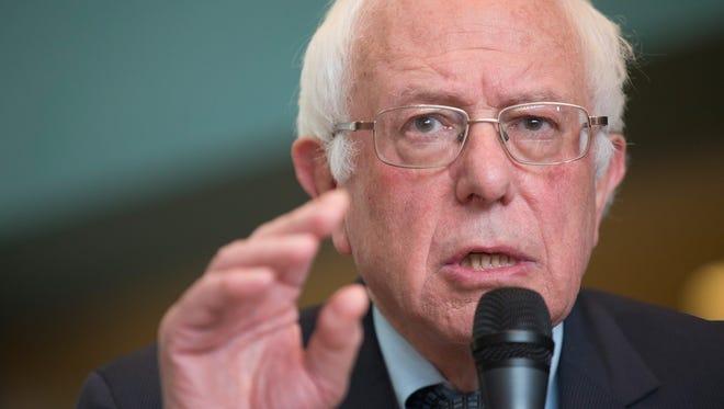 Democratic presidential candidate Sen. Bernie Sanders (D-VT).